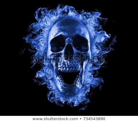 Halloween flames background 3d rendering Stock photo © Wetzkaz