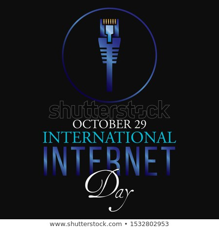 Stock photo: 29 october International Internet Day
