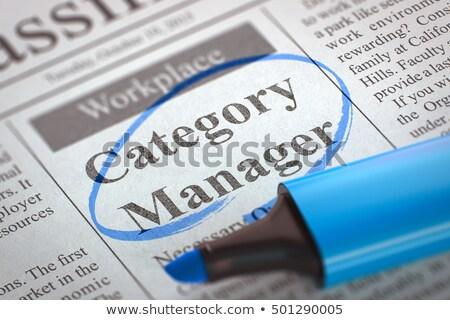 Category Manager Wanted. 3D. Stock photo © tashatuvango