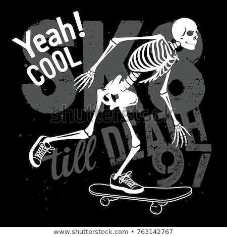 скейтбордист · прыжки · изолированный · белый · спорт · Skate - Сток-фото © is2