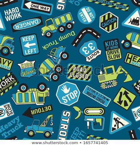бульдозер Cartoon строительство автомобиль характер Сток-фото © Krisdog