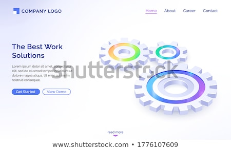 Technological Cooperation. 3D. Stock photo © tashatuvango