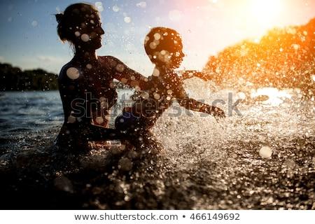 Mãe criança rio mulher verão Foto stock © IS2