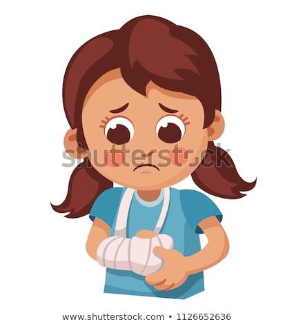 Gewond vrouw gebroken arm asian Stockfoto © RAStudio