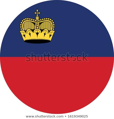 Liechtenstein bandiera bianco mondo sfondo rosso Foto d'archivio © butenkow