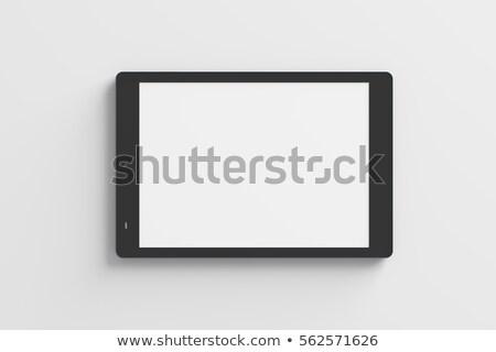 Top illustratie tablet schrijfstift pen Stockfoto © Sonya_illustrations