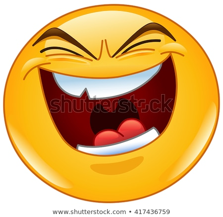 Evil laugh emoticon Stock photo © yayayoyo