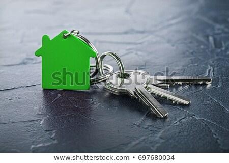 üvegház kulcs közelkép kulcsok fa asztal ház Stock fotó © AndreyPopov