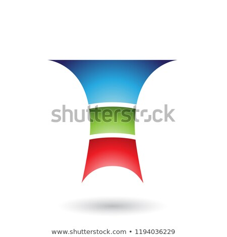 Blue Letter T with Three Layers Vector Illustration Stock photo © cidepix