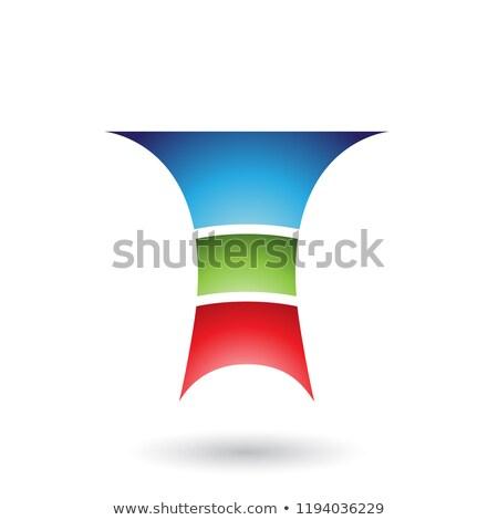 Azul letra t três camadas vetor ilustração Foto stock © cidepix
