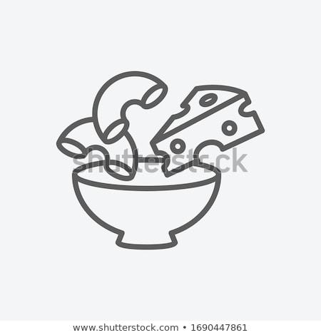 マカロニ チーズ 背景 白 ランチ ストックフォト © Alex9500