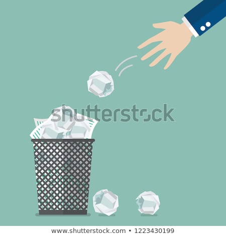 Throw Paper Waste in Container Vector Illustration Stock photo © robuart