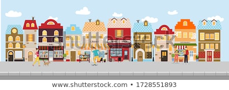 Skateboarder and Cityscape Vector Illustration Stock photo © robuart