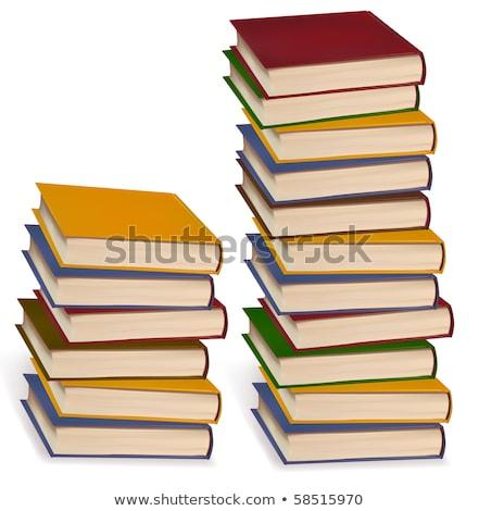 Kitaplar kitap okul eğitim yazı Stok fotoğraf © MaryValery