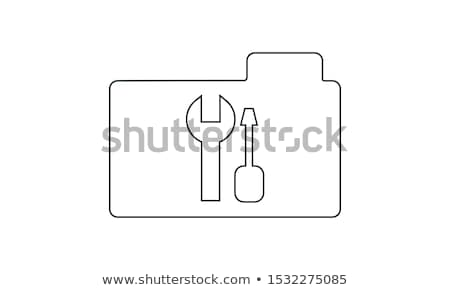 folder icon tools or settings in trendy flat style isolated on white background for your web site d stock photo © kyryloff