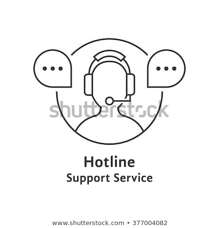 Mobiele helpen oproep illustratie mobieltje bezoeker Stockfoto © lenm