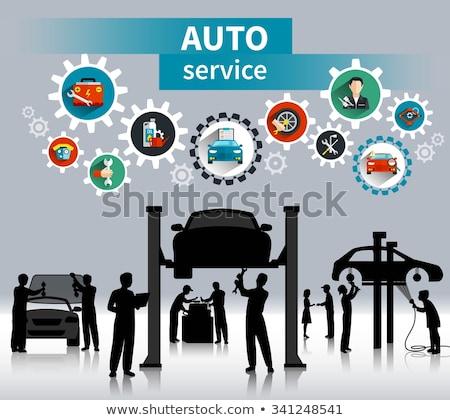Vol auto reparatie dienst wassen auto Stockfoto © jossdiim