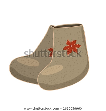 Felt Boots Traditional Shoes Vector Illustration Stock photo © robuart