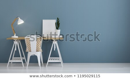 Workplace Design Table with Lamp Comfortable Chair Stock photo © robuart