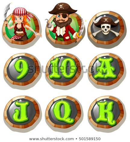 Game characters and numbers on token Stock photo © colematt