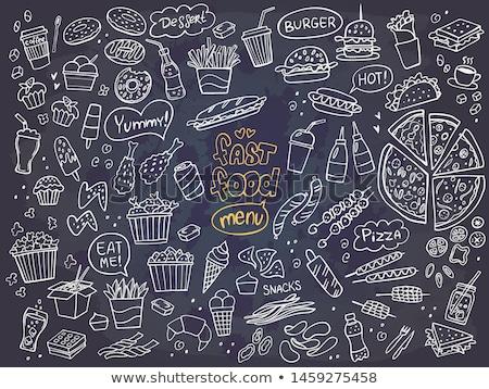 fast · food · menu · sjabloon · fastfood · restaurant · communie · ingesteld - stockfoto © anna_leni
