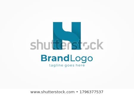 Levél logo kék egyszerű szimbólum logotípus Stock fotó © blaskorizov