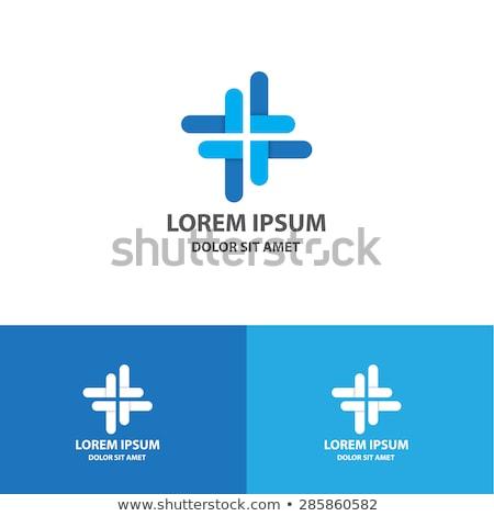 colorful cross medical symbol logo vector icon Stock photo © blaskorizov