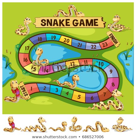 Boardgame template with snakes crawling Stock photo © colematt