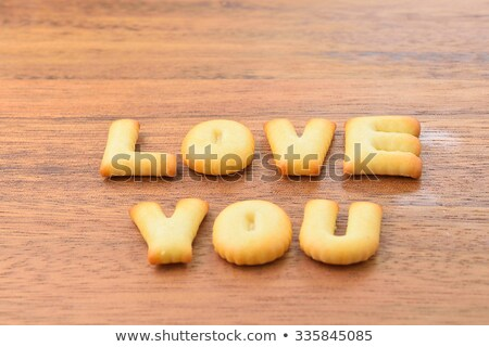 Cookies with pressed text 'Love you'  Stock photo © grafvision