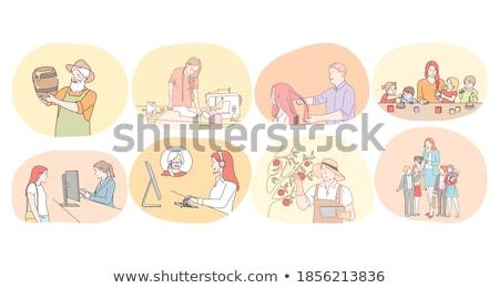учитель равномерный рабочих вектора иконки женщину Сток-фото © robuart