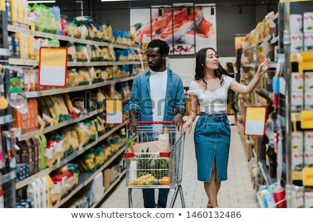 Shelf with Pineapples in Supermarket Grocery Store Stock photo © robuart