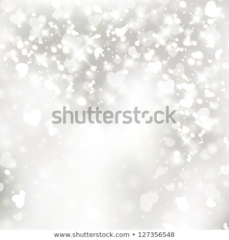 Valentine's Day background with glittery hearts Stock photo © kjpargeter
