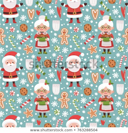 vector cocoa seamless background pattern Stock photo © freesoulproduction