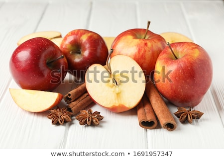 Fahéj piros almák étterem zöld eszik Stock fotó © ConceptCafe