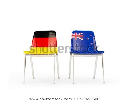 Dos sillas banderas Alemania Nueva Zelandia aislado Foto stock © MikhailMishchenko