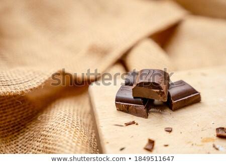 Chocolate bars in bown Stock photo © mythja