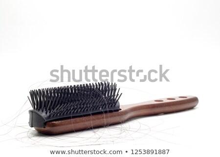 perdido · cabelo · isolado · mão · humana · branco · mão - foto stock © szefei