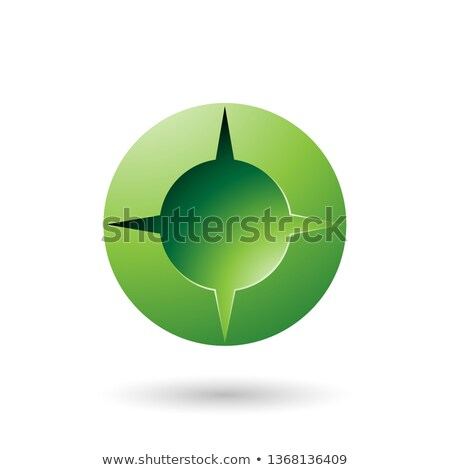 green and bold shaded round icon vector illustration stock photo © cidepix