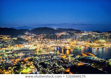 Night view of Nagasaki from top of mount Inasa. Stock photo © alphaspirit