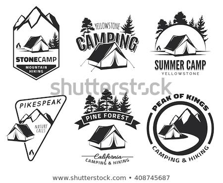 A camping boy banner Stock photo © colematt