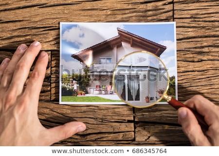 casa · lupa · palavras · casa - foto stock © andreypopov