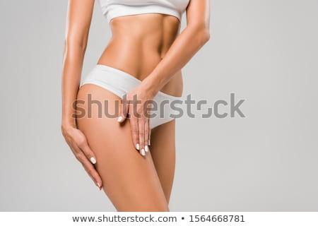 esbelto · corpo · mulher · jovem · isolado · branco · fitness - foto stock © Nobilior