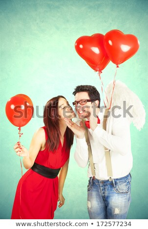 Engagement, Couple and Cupid Angel, Valentines Day Stock photo © robuart