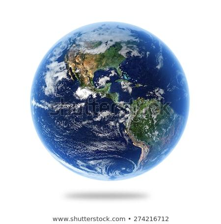 dünya · haritası · mavi · bulut · gökyüzü · beyaz · dizayn - stok fotoğraf © robuart