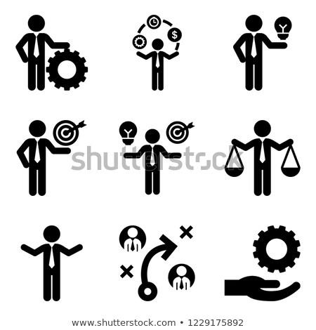 Emberek ötlet erőforrások üzlet egyensúly vektor Stock fotó © robuart