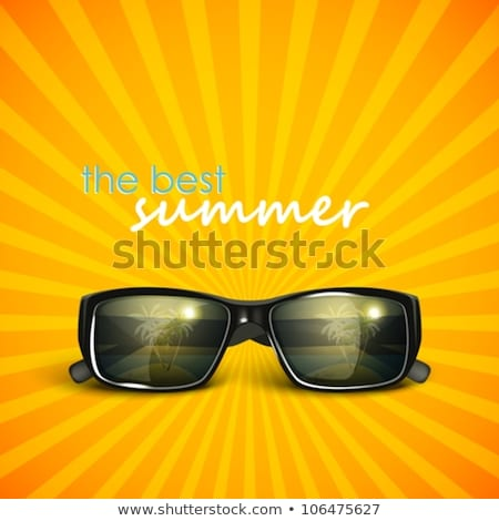 summer sunglasses with sunburst background stock photo © barbaliss