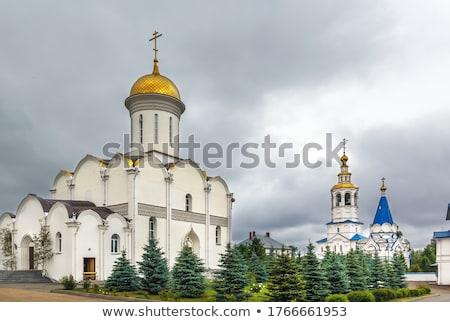Onderstelling mannelijke regio kathedraal kruis architectuur Stockfoto © borisb17