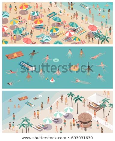 yüzme · dalış · insanlar · havuz · yaz · vektör - stok fotoğraf © robuart