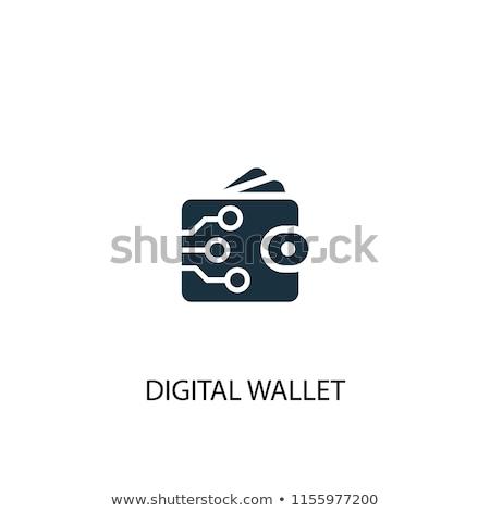 単純な ウォレット ベクトル アイコン 行 デジタル ストックフォト © WaD