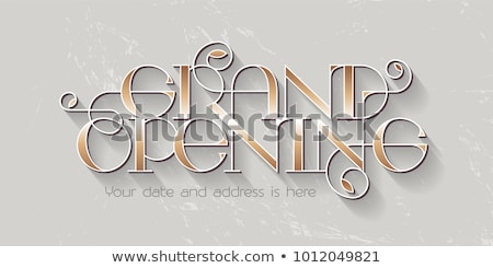 stylish grand opening ceremony card design Stock photo © SArts